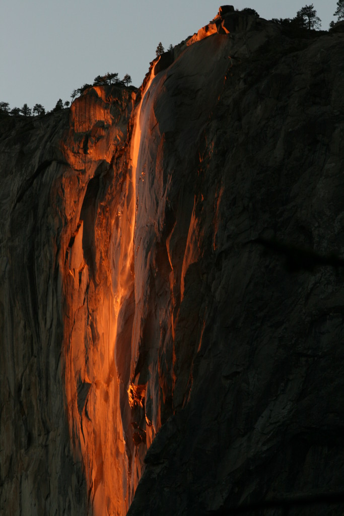 Yosemite Tours Horsetail Fall In Yosemite